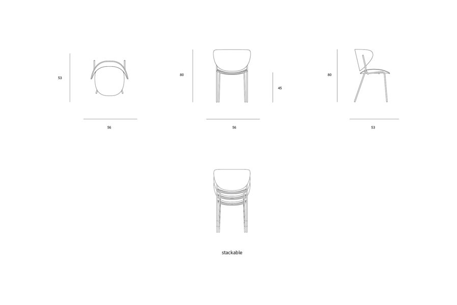 BOLTA CHAIR DRAWINGS