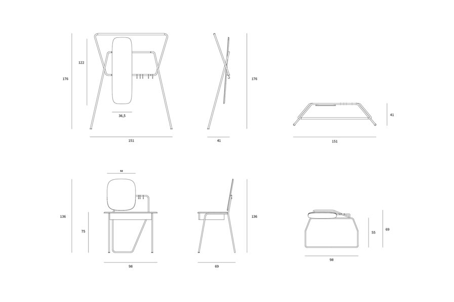 KIER VANITY DRESSING TABLE AND HANGER DRAWINGS