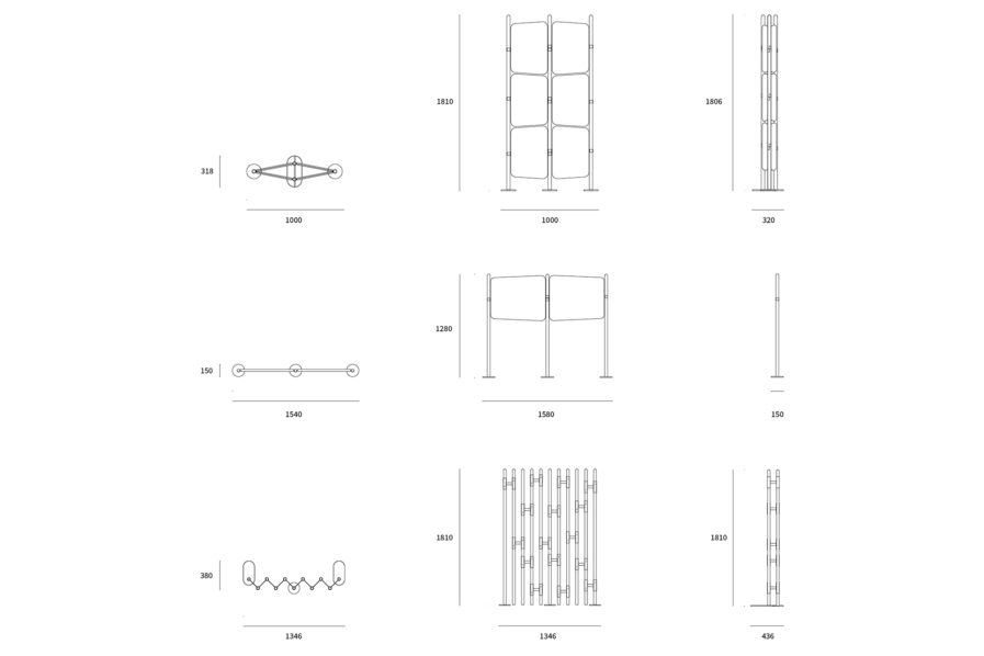 TARABA ROOM DIVIDER DRAWINGS