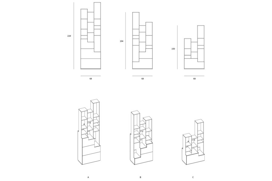 SFUMATO SHELVING SYSTEM DRAWINGS