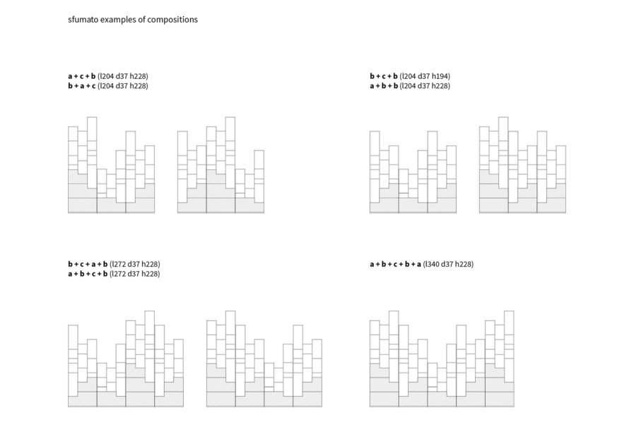 SFUMATO SHELVING SYSTEM COMPOSITIONS